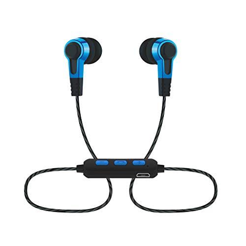 Hängender Hals Drahtgesteuerter In-Ear-Bass Kopfhörer mit guter Klangqualität (Blau)