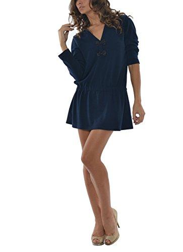 Laura Moretti - Robe avec des liens Bleu Marine