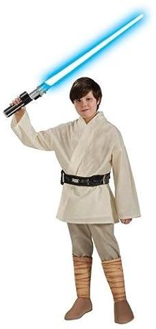 Star Wars Deluxe Kinder Kostüm Luke Skywalker Größe L 8 bis 10 Jahre (Padawan Star Wars Kostüm)