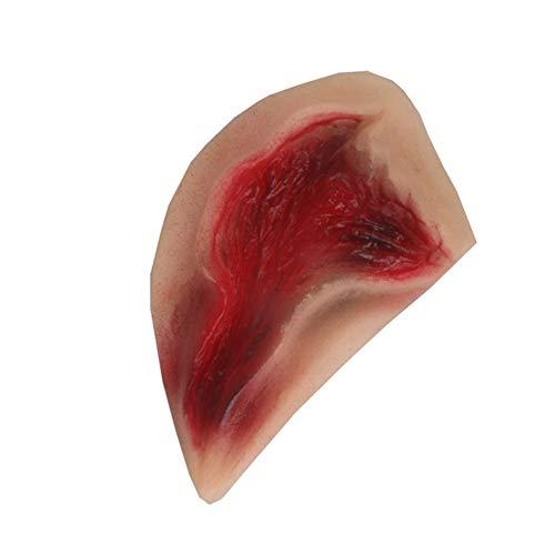 YUnnuopromi - Día de Halloween ! ! 3D látex Falsa Herida Pegatina sangrienta lesión Cicatriz picazón Prank Maquillaje, 1#
