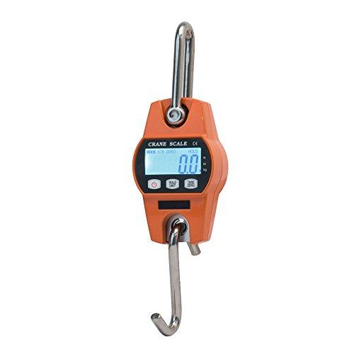 Hyindoor 300KG Escala de grúa Electrónica Báscula Digital de Grúa para Pesca Industrial con Gancho Resistente