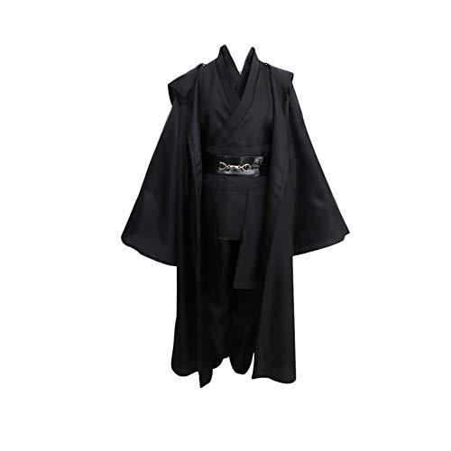 Sith Club Kostüm - Fanstyle Star Wars Jedi Ritter Anzug Umhang Cosplay Kostüm Anakin Sith Anzug Mantel Tops Hosen 7st