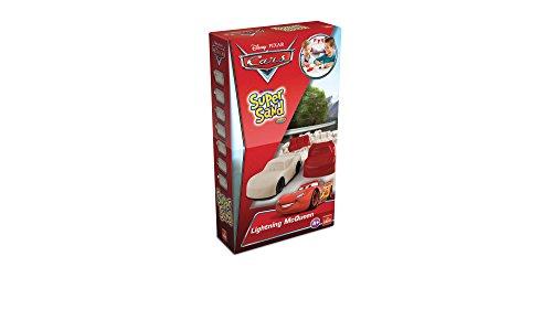 Goliath 83257 | Super-Sand-Set Disney-Cars-Small | rasantes Vergnügen fürs Kinderzimmer mit deinem Champion Lightning McQueen | modelliere deinen Rennwagen mit Super Sand und lass sie zu spannenden Autorennen starten | ab 4 Jahren