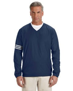 adidas Golf Mens Climalite® Colorblock V-Neck Wind Shirt (A147) -Navy/Navy -M -