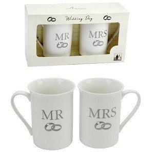 Amore Lot de 2 Mug Coffret cadeau – Mr & Mrs