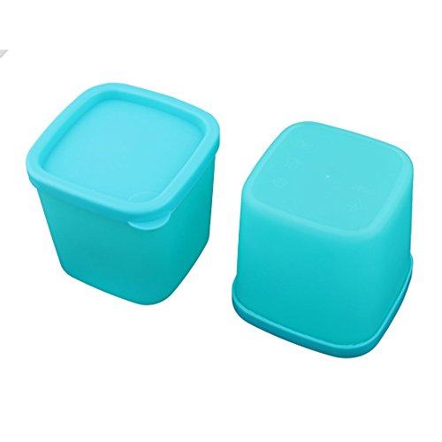 Behälter Türkis Lagerung (sourcingmap 2pcs Kunststoff Lebensmittel Erdnüsse Süßigkeiten Lagerung Kasten Türkis)