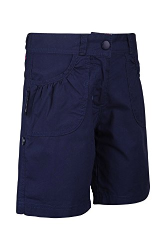 Mountain Warehouse Shore Girls Shorts - 100% Cotton Kids Shorts, Long Holiday Shorts, Breathable, Roll up Cuffs Beach Hot Pants - Ideal Summer Clothes While Travelling