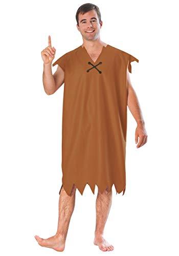 Barney Rubble Adult Fancy Dress Kostüm, Braun M