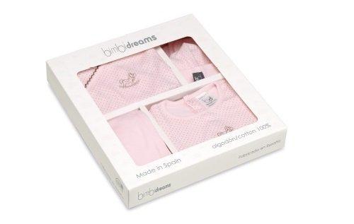 Set nacimiento bebé pirulos dots color rosa talla única
