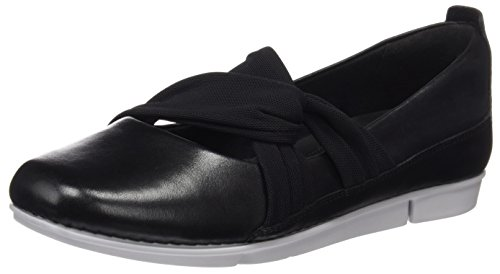 Clarks Damen Tri Accord Geschlossene Ballerinas Schwarz (Black Leather)