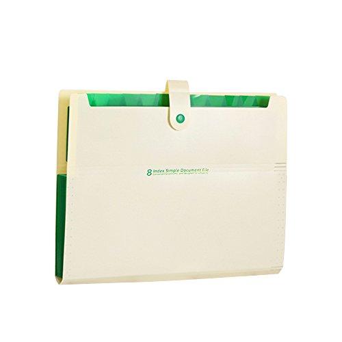 gertong PP Datei Ordner, multifunktional Datei Bag Candy Ordner Daten Buch Office Supplies