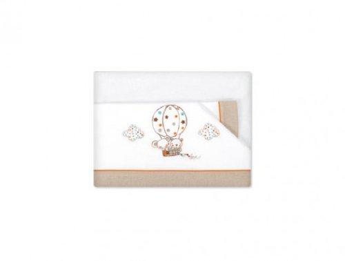 Pirulos Globo - Tríptico sábanas, 80 x 140 cm, color blanco y lino