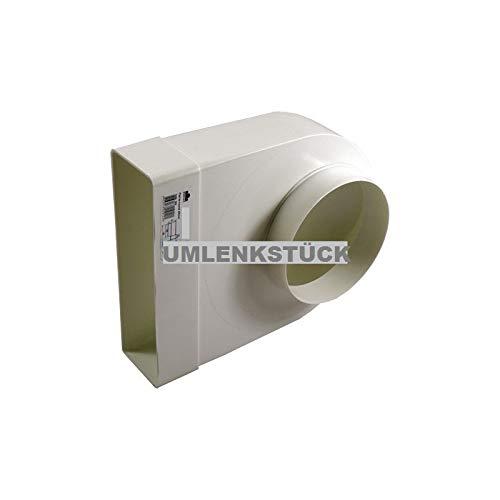 Lüftungskanal (Adapter 90° Rundrohr Ø125mm / Flachkanal 204x60mm)