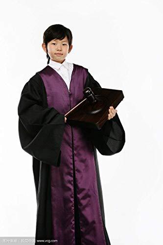 Kinder Richter chothes Kinder europäischen Richter Erfahrung Kleidung Anwälte Haar setzt Perücken Lehrbuch Drama Bühnenkostüme, 02.100cm