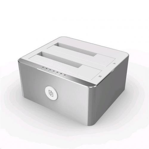 Unitek Y-3027 Dockingstation Dual USB 3.1 HDD Klonen Aluminium