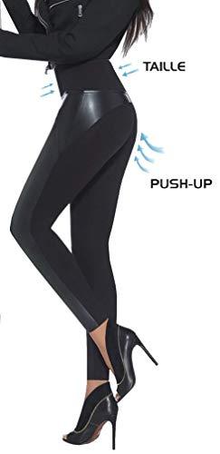 Firstclass Trendstore Shape-Leggings in versch. Styles Gr. S-XXL * Jeans-Optik Lederoptik formend modellierend schlankmachend Leggins Damenhose Push-up (Ally S)