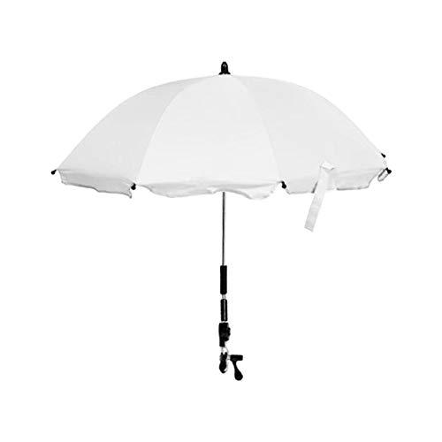 Sonnenschirm Kinderwagen Regenschirm Kinderwagenschirm Sonnenschirm mit flexibler Halterung für Kinderwagen & Buggy - UV Schutz 50+ - 80 × 70CM