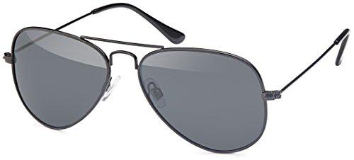 Feinzwirn Sonnenbrille mit Edelstahlrahmen und polarisierten Gläsern in 2 Farben - mit Hardcase (schwarz-zarter-Rahmen)