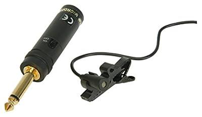 QTX Omni Directional Tie Clip Condenser Microphone