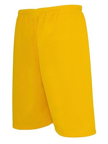 Urban Classics TB046 Herren Sport Shorts Bball Mesh Shorts gelb