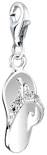 Nenalina Charm Sandale Anhänger in 925 Sterling Silber für alle gängigen Charmträger 716004-019 -