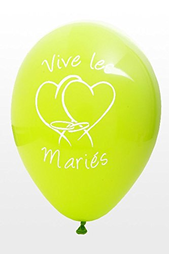 HB - Ballon Vive Les Mariés x8 Vert Anis