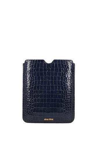 Miu Miu Tasche (iPad Taschen Miu Miu Damen - Leder (5ARE43STCOCCOLUXBLUETTE))