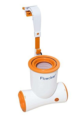 Bestway 58462-18 Flowclear Skimatic Einhängeskimmer/Filterpumpen-Kombination, Weiß / Orange, 46.5 x 47 x 31.5 cm