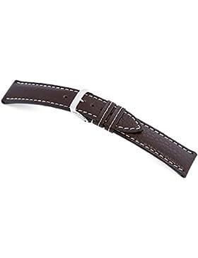 RIOS1931 Uhrenarmband Echt Bueffel Mokka Bandanstoss 22 mm