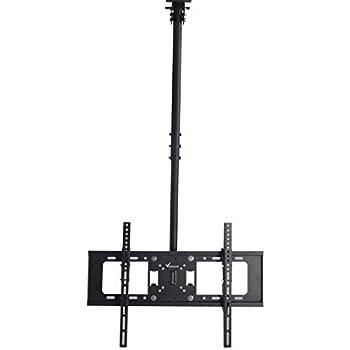 Vemount Adjustable Ceiling TV Bracket Tilt Rotating Mount for 32