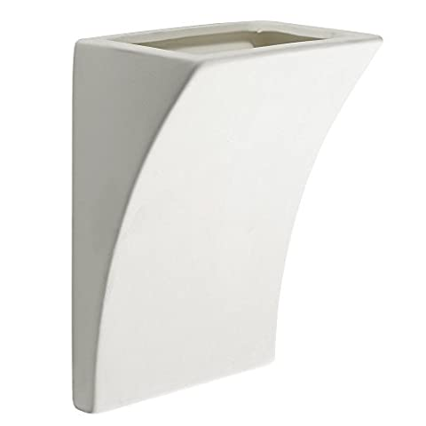Modern White Ceramic Curved Light Switch Style Flush Wall Wash Lamp