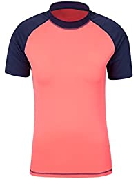 Mountain Warehouse Rash T-Shirt Femme Tee Shirt Manche Courte Protection Anti-UV Soleil Mer Plage