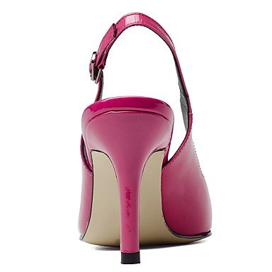 Talloni delle donne Estate Autunno Dress Altro Patent Leather ufficio & carriera Party & Sera Stiletto Heel Casual Buckle Nero Rosa Altro Pink