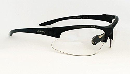 Alpina Dribs Lauf- und Radsportbrille mit gewölbten und gehärteten Scheiben