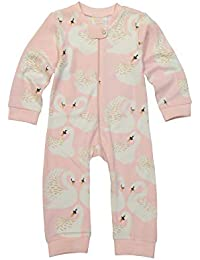 Masala Baby Little Girl's Organic Zippered One Piece Swan Song