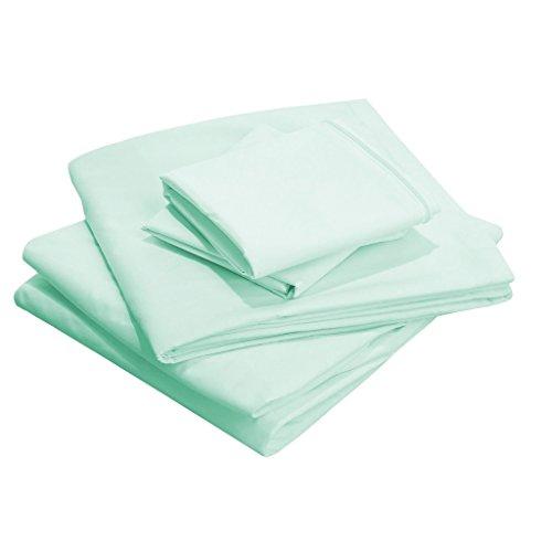 Solide Ägyptischer Baumwolle Blatt (SCALABEDDING 76,2 cm Super Tiefe Tasche 100% ägyptische Baumwolle 400 Fäden King Size Blatt Solide Aqua-Klinge)