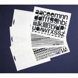 Selbstklebende Großbuchstaben Folie weiß, 50 mm, 1 Bogen Anzahl der Großbuchstaben: A,E,I,N, je 5x B,C,D,F,G,H,K,L,M,O,P,R,S,T,U, je 4x V, je 3x J,W,Z, je 2x Q,X,Y, je 1x