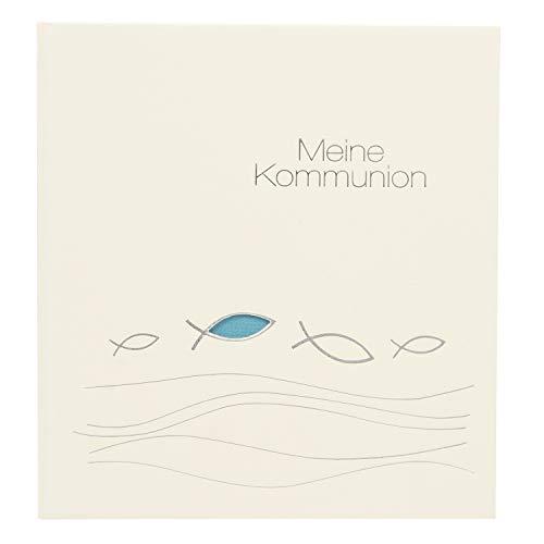 Goldbuch Erinnerungsalbum für die Kommunion, Ichthys, 23x25 cm, 44 illustrierte Seiten, Naturpapier, Beige, 11 116