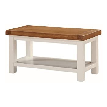 Alba Painted Oak Small Coffee Table With Shelf   Painted Oak Storage Coffee  Table   Finish