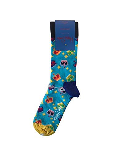 Happy Socks  Neu Krone London Edition Unisex Freizeitsocken Größe 36-40 Diamond Sneaker
