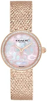 COACH HAYLEY WOMEN's PINK MOTHER OF PEARL DIAL WATCH - 1450