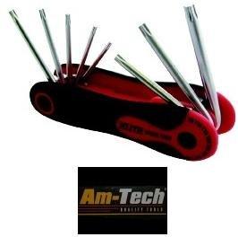Am-Tech CRV Folding Torx Key Set (8 Pieces)