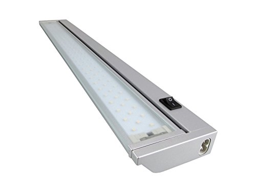 Rolux 3008300540 A+, LED Unterbauleuchte 5,4 W, Aluminium, warmweiß / Silber, 575 mm