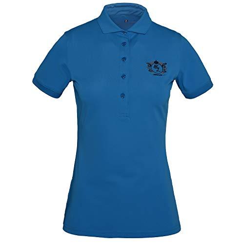 Kingsland Equestrian Trayas Technical Pique Womens Polo Shirt Medium Blue Vivid
