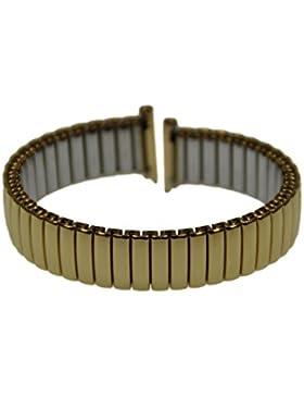 Rowi FixoflexS Zugband 12mm Uhrenarmband Vergoldet Flex Armband Uhr Band 385002