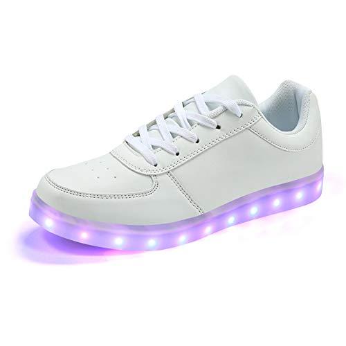 Padgene - Zapatillas de Otra Piel para Mujer, Color Blanco, Talla 42 EU
