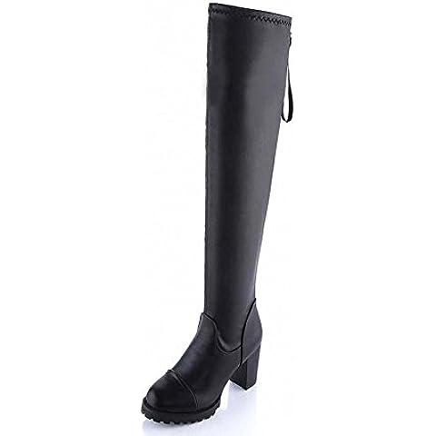 SHIXR Ladies stretch Stivali sopra il ginocchio alti stivali chunky