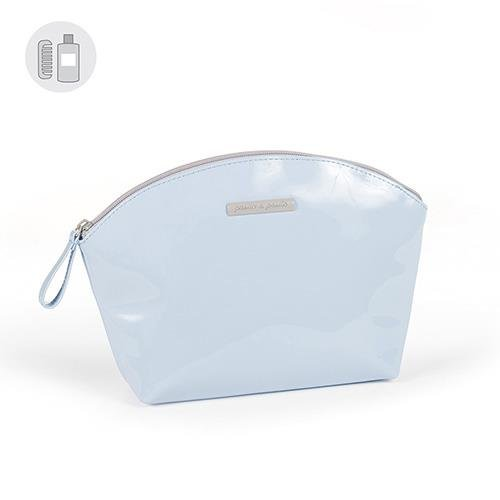 Pasito A Pasito - Neceser charol azul tweed baby tw