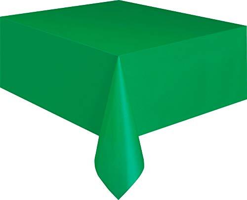 Kunststoff-Tischdecke, 2,74 x 1,37 m, smaragdgrün (Kunststoff Aus Tischdecken)