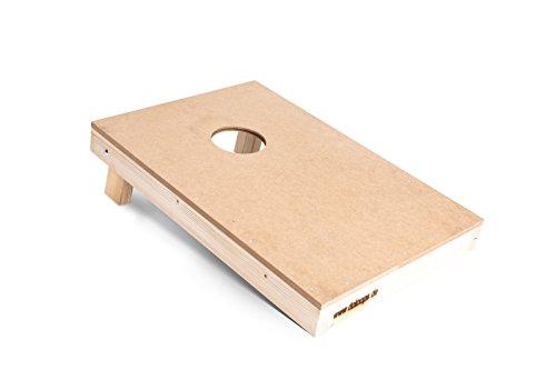 Original Cornhole Spielbrett / Board - natur, farblos 16 mm MDF - Original Deutscher Cornhole Verband Turnier Board